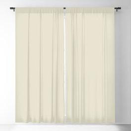 Pale Beige Solid Color Inspired by Behr Climate Change S350-1 Blackout Curtain