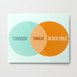 Toddler Venn Diagram Metal Print