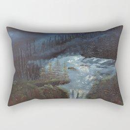 Night at the Falls Rectangular Pillow