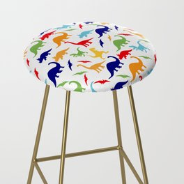 Colorful Dinosaurs Pattern Bar Stool