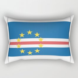 Flag of Cape Verde, officially the Republic of Cabo Verde. The slit in the paper with shadows. Rectangular Pillow