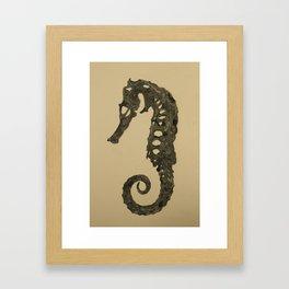 Seahorse Skeleton Framed Art Print