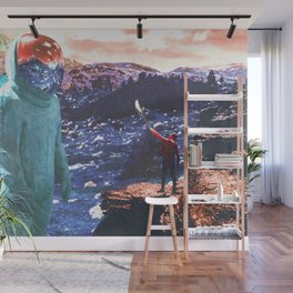 Giant and Man Surreal World Wall Mural