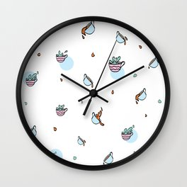 Spills Cups cup Wall Clock