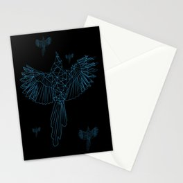 Geometrical Magpie Grid Stationery Cards