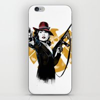 peggy carter iPhone & iPod Skins featuring Agent Peggy Carter by PawixZkid