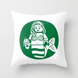 Minifigure Mermaid Throw Pillow