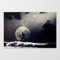 surfer Canvas Prints featuring Surfer by Monika Strigel®