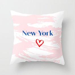 New York City <3 Throw Pillow
