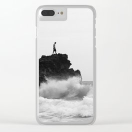 Defying the ocean Clear iPhone Case