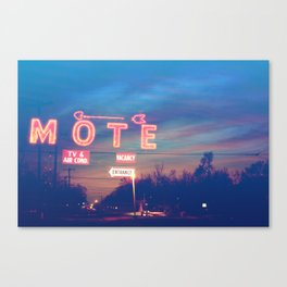 Tara Motel is Open for Business Canvas Print