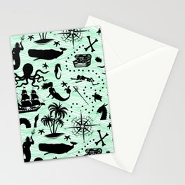 High Seas Adventure // Sea-Green Waves Stationery Cards