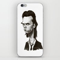 nick cave iPhone & iPod Skins featuring Nick Cave by Martynas Juchnevicius