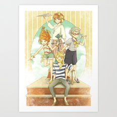 The Mermaid Club Art Print