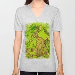 The Great Hare Unisex V-Neck