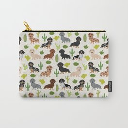 Dachshund cactus southwest dog breed gifts must have doxie dachsies Carry-All Pouch
