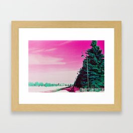 Winter psychedelic 1 Framed Art Print
