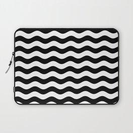 Wavy Stripes (Black/White) Laptop Sleeve