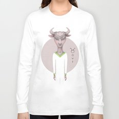 taurus astro portrait Long Sleeve T-shirt