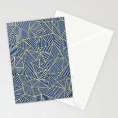 Ab Out Double R Navy Stationery Cards