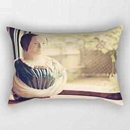 Woman in a Window Rectangular Pillow