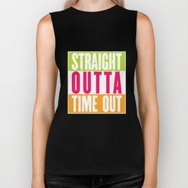 Straight Outta Time Out - Fun Colors Kids Boys Biker Tank