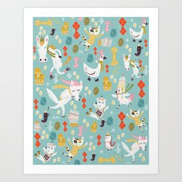 Get out your woolens Art Print