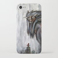 shadow of the colossus iPhone & iPod Cases featuring Wander and the Colossus by Doom