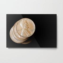 Stack of Pennies Metal Print