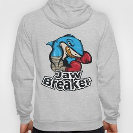 """Know Someone That Is A Shark Fan? Here's A Shark Tee Saying """"Jaw Breaker"""" Sea Creatures Boxing Hoody"""