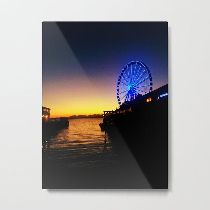 Seattle Pier Metal Print