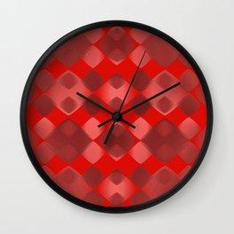 Pattern red 2 Wall Clock