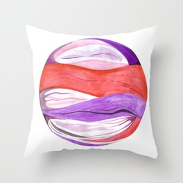 Marble Painting - Hydrangea Stripe Throw Pillow