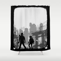 last of us Shower Curtains featuring The Last of Us : Limbo edition by Carbatine