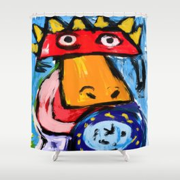 The king duck Shower Curtain