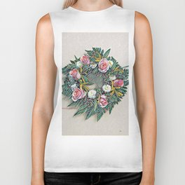 Rose Ring in pink, white, yellow and green Biker Tank