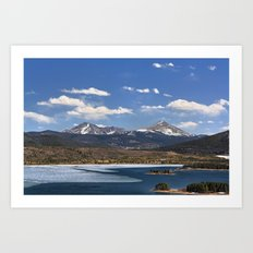 Dillon Reservoir is Thawing Art Print