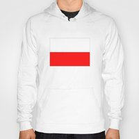 poland Hoodies featuring Poland country flag by tony tudor