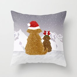 Cute Dogs Holiday Design Throw Pillow