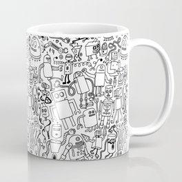 Infinity Robots Black & White Coffee Mug