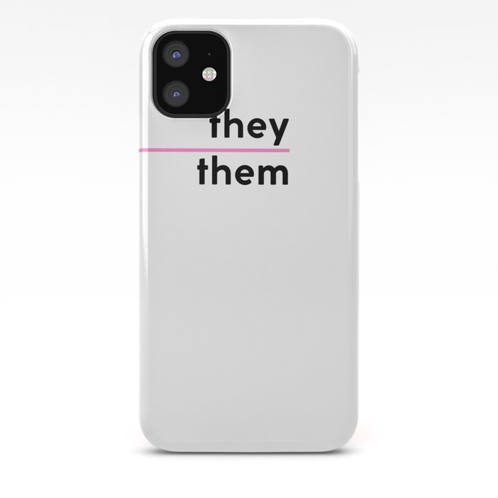 They / Them – Pink iPhone Case