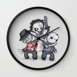 Horror Trifecta Plushie  Wall Clock
