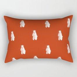 Christmas Red Polar Bear Rectangular Pillow