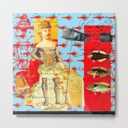 THE SHOWY PLANE HUNTER AND FISH IV Metal Print