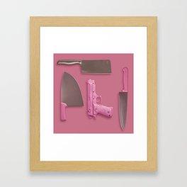Cute organized weapons Framed Art Print