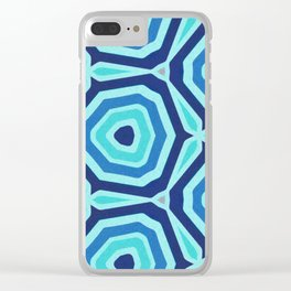Bet on Blue - Abstract Circles Clear iPhone Case