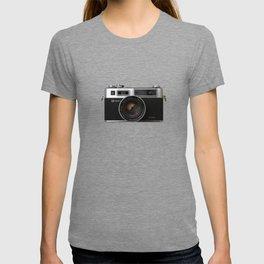 Yashica electro 35 on white marble T-shirt