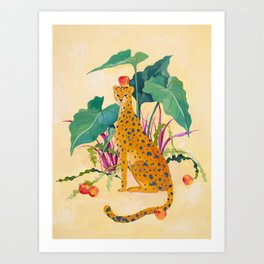 Cheetah and Apples Art Print