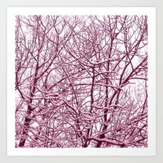 purple winter tree I Art Print