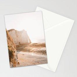 Sunset Etrerat France | chalk cliffs | coast | sea | ocean | pastel colored Stationery Cards